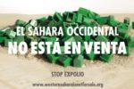 La Confederación Intersindical se suma a la campaña internacional «El Sahara no se vende», contra el expolio de los recursos naturales del Sahara Occidental