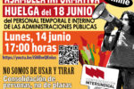 La Confederación Intersindical convoca ASAMBLEA informativa online sobre la HUELGA GENERAL del personal temporal e interino de las Administraciones Públicas